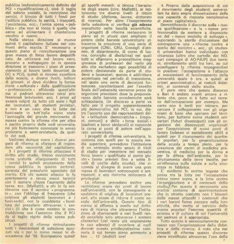 lettere e filosofia bari il movimento 77 a bari nei documenti collettivo di