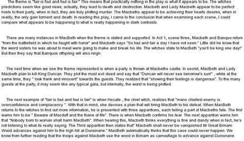 Symbolism Essay Exles by Exles Of Symbolism In Macbeth At Essaypedia