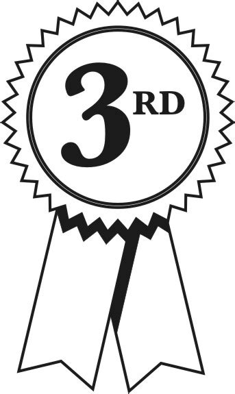 coloring page first place ribbon 2nd place ribbon clipart bbcpersian7 collections