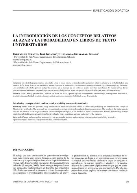 pdf libro de texto la sombra de los que fuimos para leer ahora pdf la introducci 243 n de los conceptos relativos al azar y la probabilidad en libros de texto