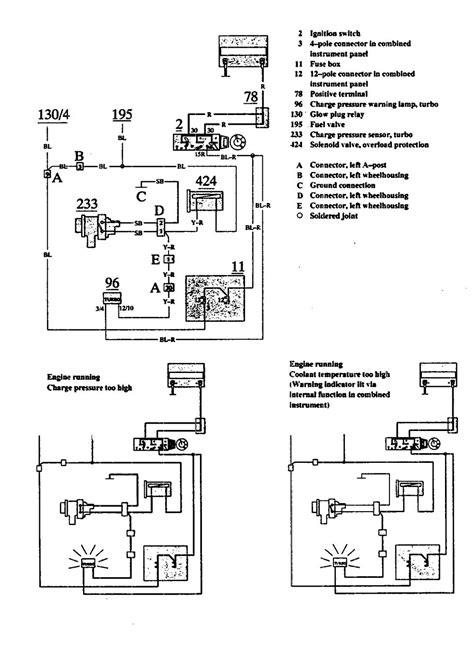 volvo 740 1991 wiring diagrams warning indicator