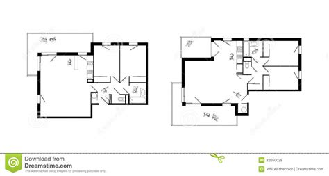Studio Apartment Floor Plans Furniture Layout three rooms apartment plans set royalty free stock photos