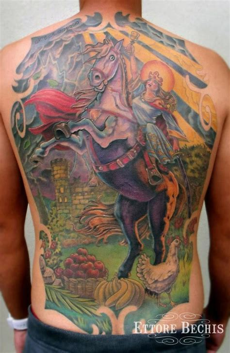 santa barbara cuba backpiece tattoos realistic