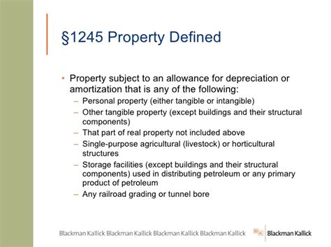 section 1245 property definition navigating the depreciation maze