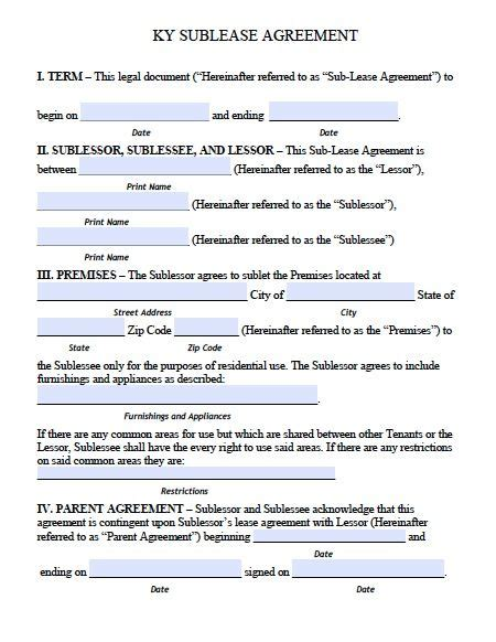flatmate agreement template free kentucky sublease roommate agreement form pdf