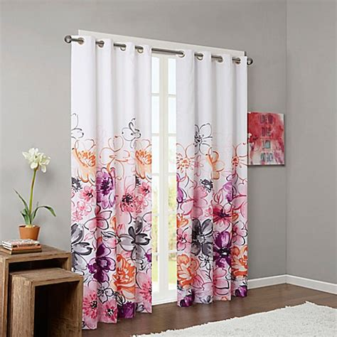7 Hip Printed Curtains by Intelligent Design Printed Blackout 84 Inch Window