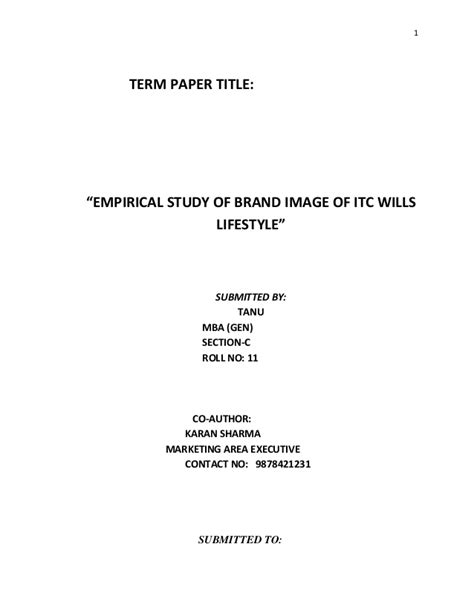 Article Title In Essay Apa by Term Paper Title
