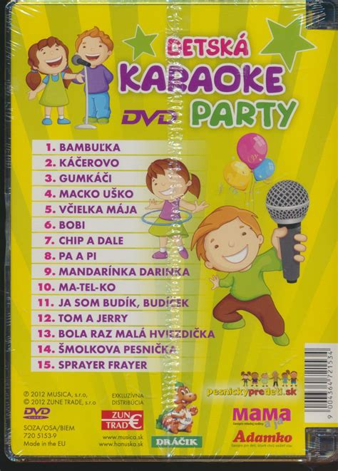 Dvd Karaoke dvd detsk 193 karaoke