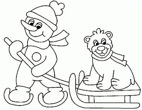 imagenes infantiles invierno dibujo de deportes de invierno para colorear dibujos