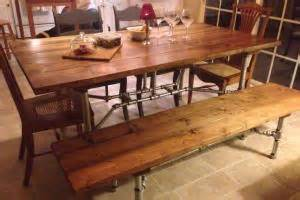 Pipe Frame Dining Table Lowe S Pipe Frame Harvest Table Customer Stories