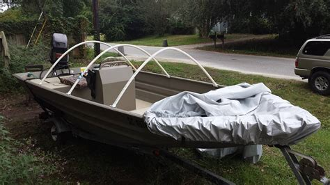 diy fishing boat canopy diy boat cover project