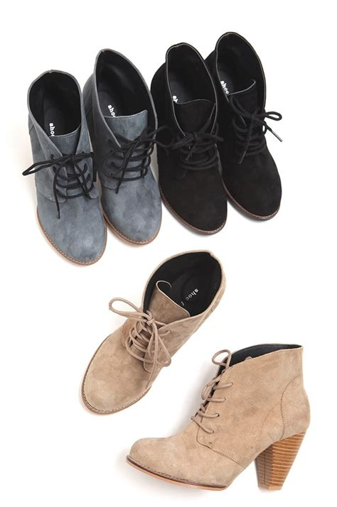 leather lace up booties shoes