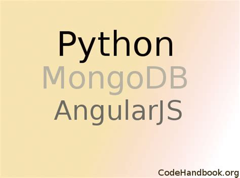 tutorial python mongodb angularjs archives code handbook