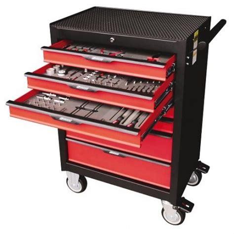 cassettiere per utensili ltf carrello da officina con 7 cassetti e 138 utensili