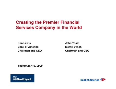 finance bank of america bank of america corporation acquires merrill lynch co