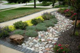 Front Patios Design Ideas Dry Creek Beds Olathe Kansas Ks