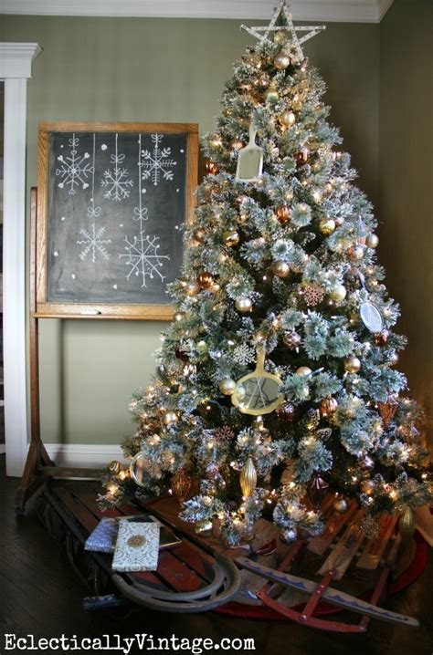 bedazzled christmas tree lights christmas house tour tons of decorating ideas