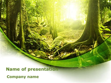 jungle forest presentation template for powerpoint and
