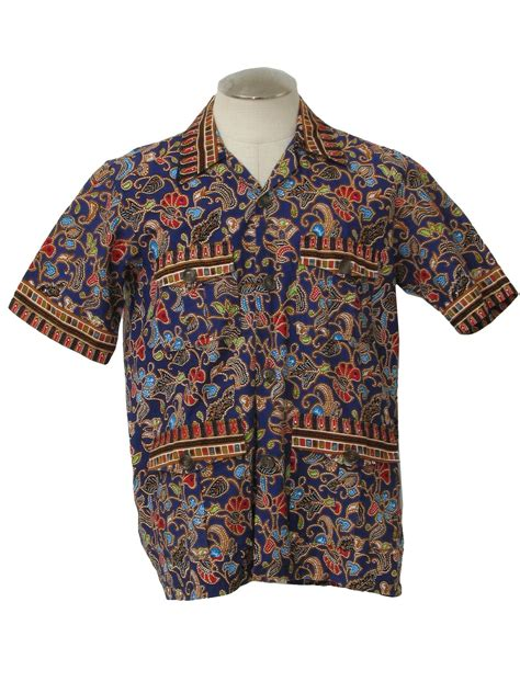 guarantee 100 percent batik 80 s vintage hippie shirt 70s guarantee 100 percent batik mens