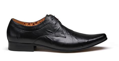mens black smart shoes front fr6858