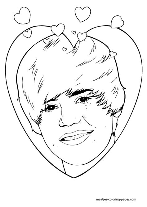 justin bieber coloring pages printable free justin bieber 36 celebrities printable coloring pages