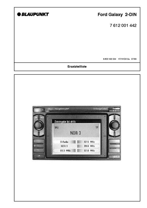 blaupunkt ford galaxy service manual  schematics eeprom repair info  electronics