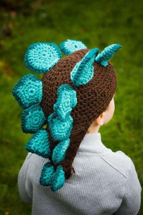 is it harder to knit or crochet custom baby toddler stegosaurus crochet hat