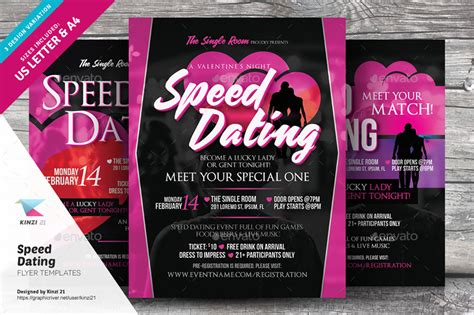 Speed Dating Flyer Templates By Kinzi21 Graphicriver Speed Dating Website Template