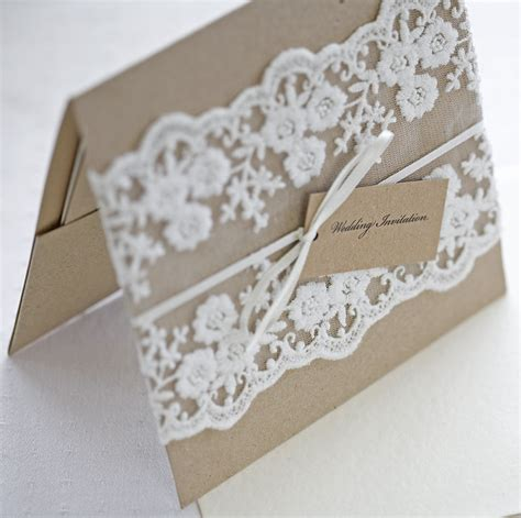 Wedding Invitations With Lace by Rustic Lace Wedding Invitations So Ipunya