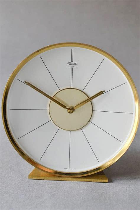 Mid Century Modern Desk Clock Vintage German Wooden Kienzle Desk Clock Table Clock Mid Century Modern 50s 60s Vintage Clock