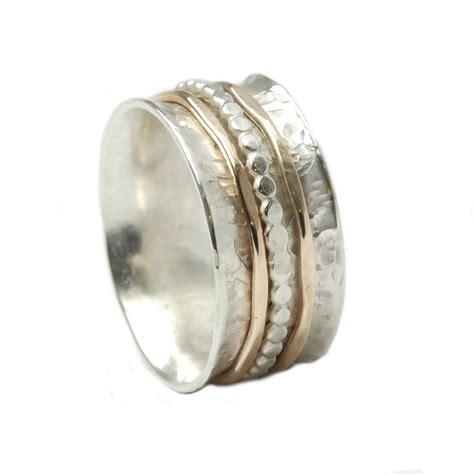 Eheringe Orientalisch by Bicolor Ring 925er Silber Mit Drehbaren Schienen Aus