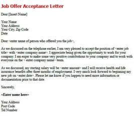 Acceptance Letter Receive Post Reply