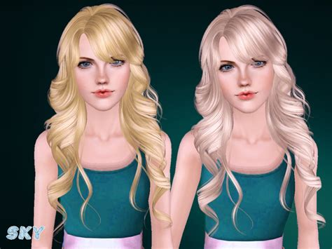 sims 3 cc hair color skysims hair adult 255n