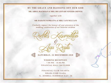 contoh undangan wedding invitation dalam bahasa inggris