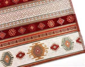 ethnic tribal style chenille upholstery fabric aztec navajo