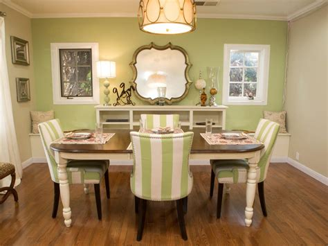 green dining room table beautiful green dining room with kitchen view stock photo