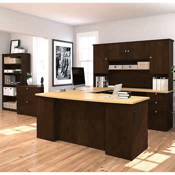 merritt u shape desk with hutch merritt u shape desk with hutch bookcase and lateral file