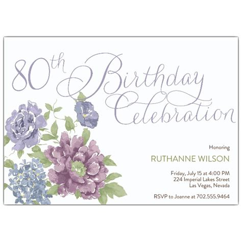 invitation wording for 80th birthday southgate 80th birthday invitations paperstyle