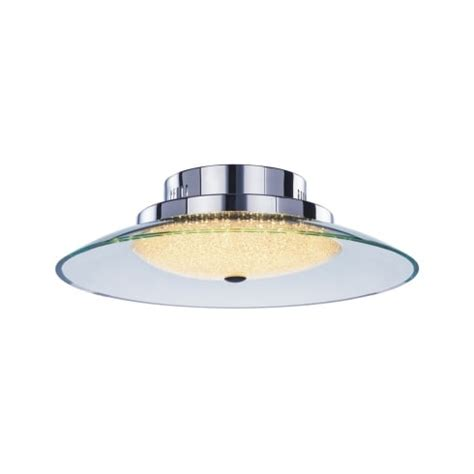 medium bathroom flush mount light ceiling fitting illuminati quartz single light led flush bathroom ceiling fitting in polished chrome and clear