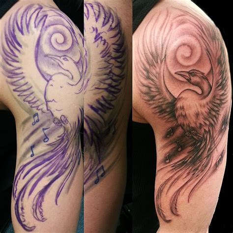 tattoo phoenix hand freehand phoenix tattoo by joshing88 on deviantart