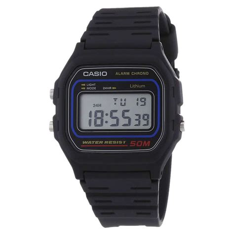 Digital Water Resist casio collection w 59 1vqes sports 50m water resistant