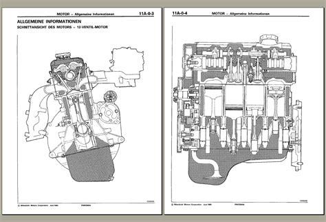 mitsubishi 4m4 engine mitsubishi engine workshop manual