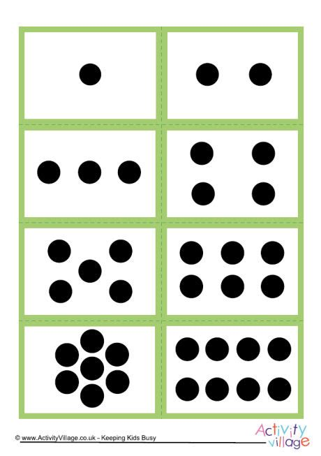 dot pattern number cards mix and match number dot cards 0 to 10 set 1