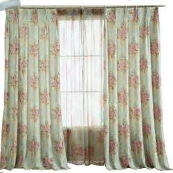 Country Living Curtains Green Color Jacquard And Printing Floral Country Living Room Curtains Bedroom