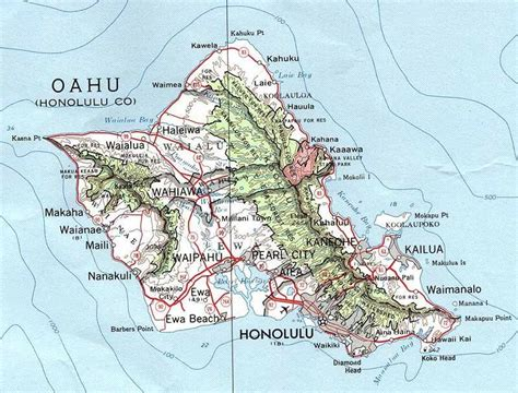 printable map honolulu map of oahu hawaii free printable maps