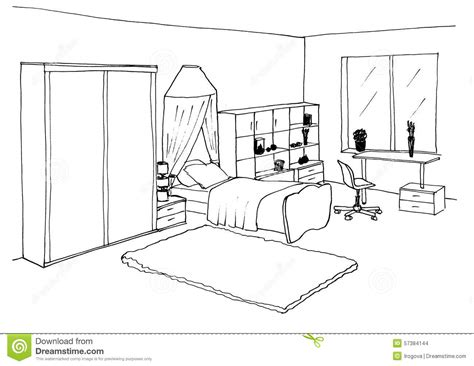 room sketch free room graphical sketch stock illustration image of