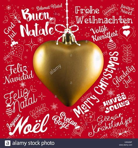 merry christmas  card  world   languages  stock photo royalty