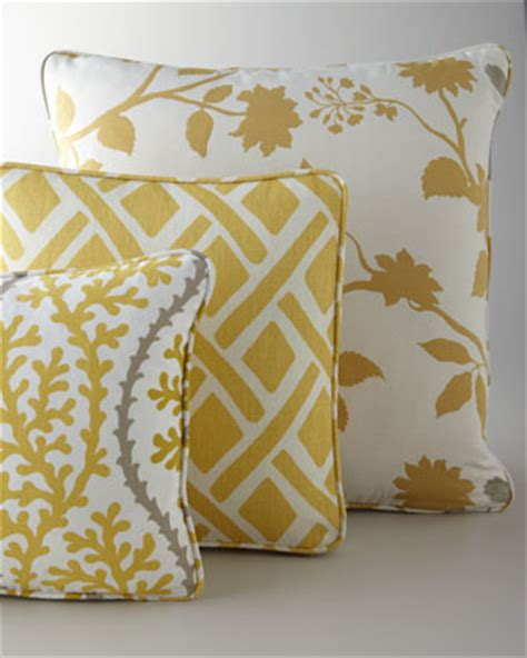 Horchow Pillows by Yellow Citron Gray Pillows Scatter