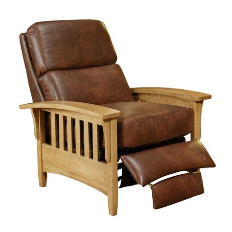 mission recliner chairs mission push back recliner by omnia leather