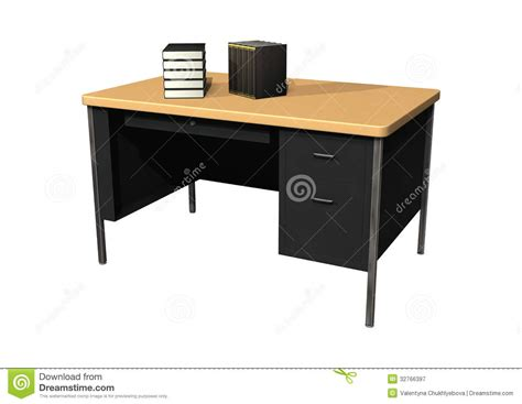 desk with books royalty free stock photography image